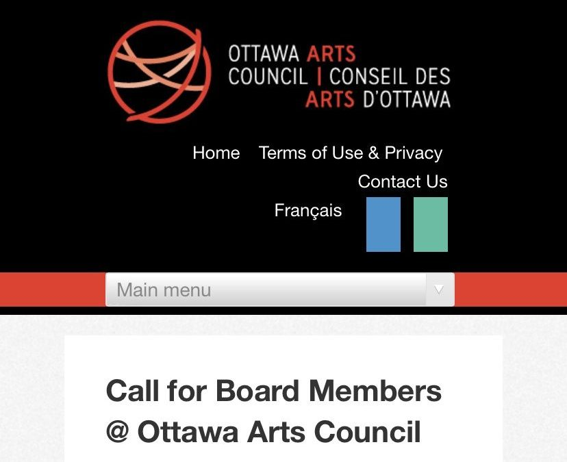 An opportunity for you @ Ottawa Arts Council