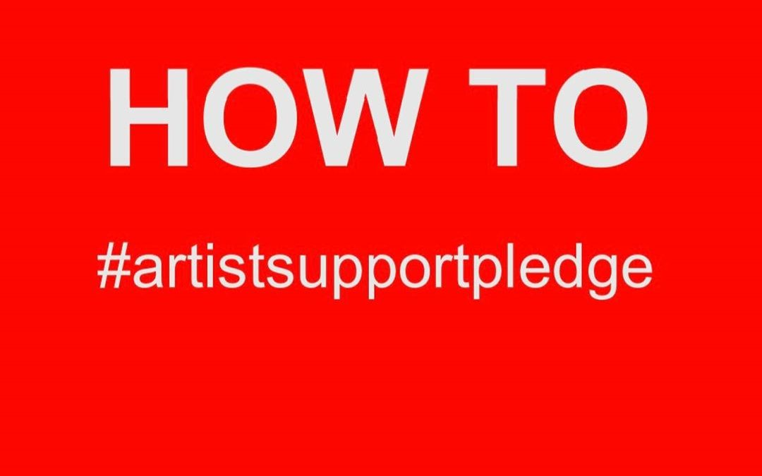 Wow! Check this out on Instagram: #artistsupportpledge